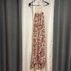 Billabong halter crochet maxi dress